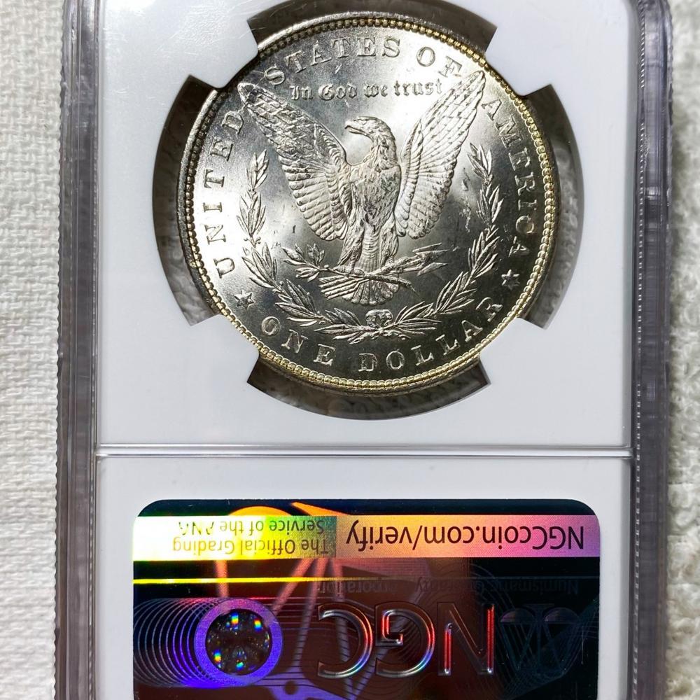 1882 Morgan Silver Dollar NGC - MS65