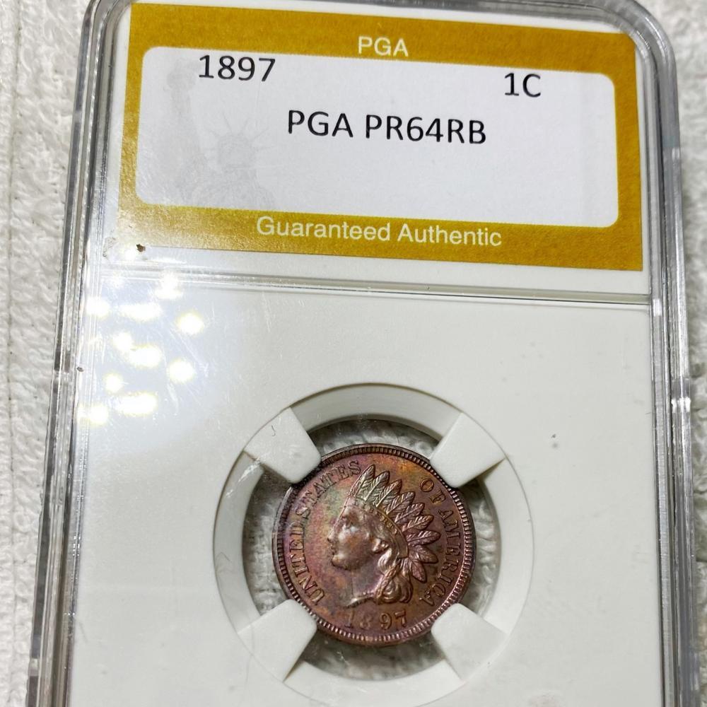 1897 Indian Head Penny PGA - PR 64 RB