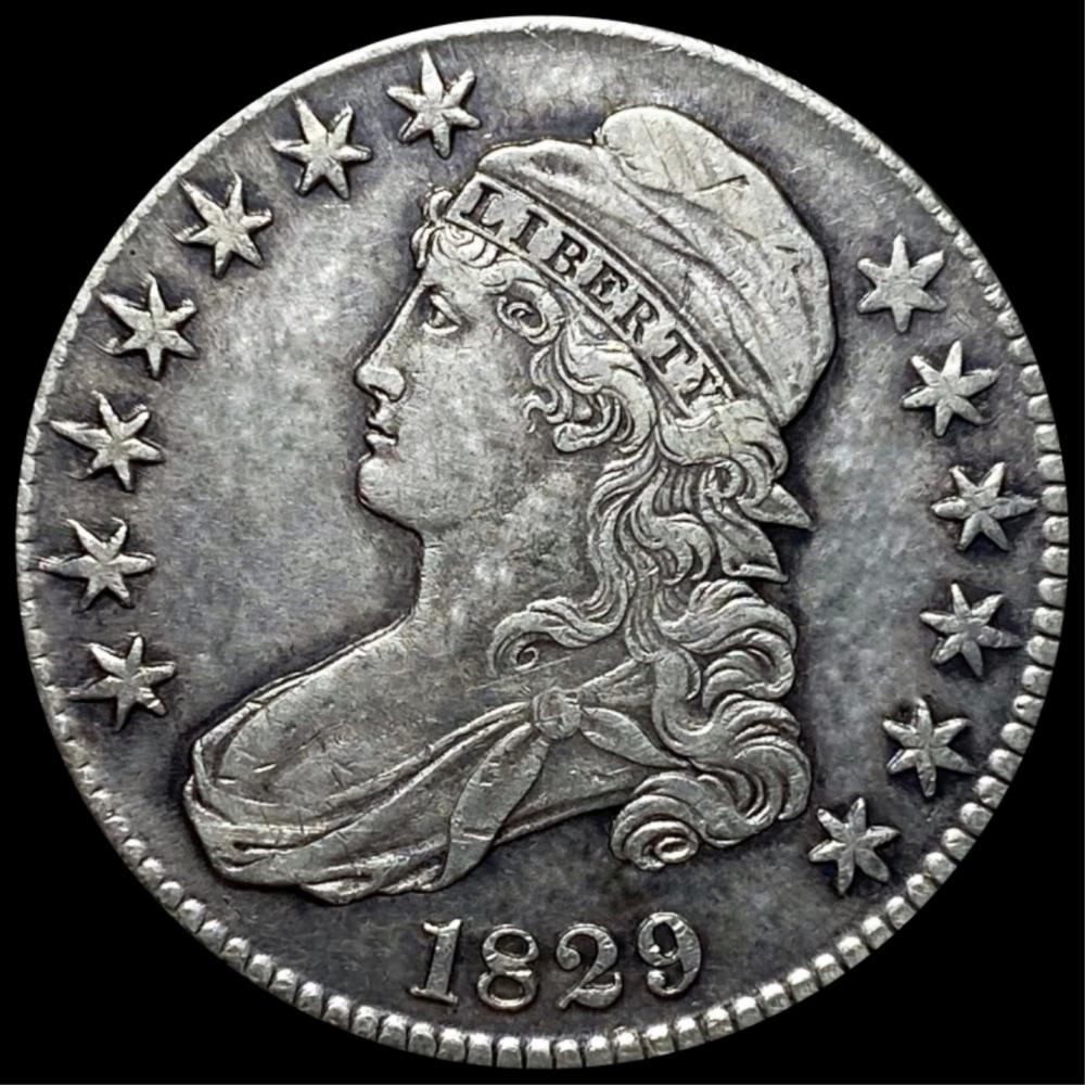 1829 Capped Bust Half Dollar ABOUT UNCIRCULATED