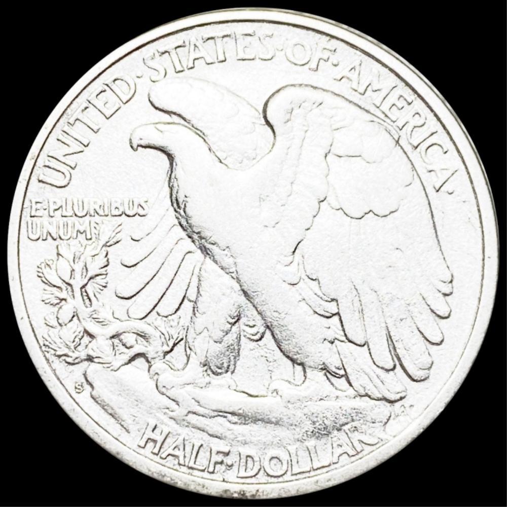 1917-S Walking Half Dollar NICELY CIRCULATED