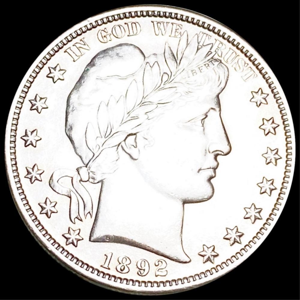 1892 Barber Half Dollar UNCIRCULATED