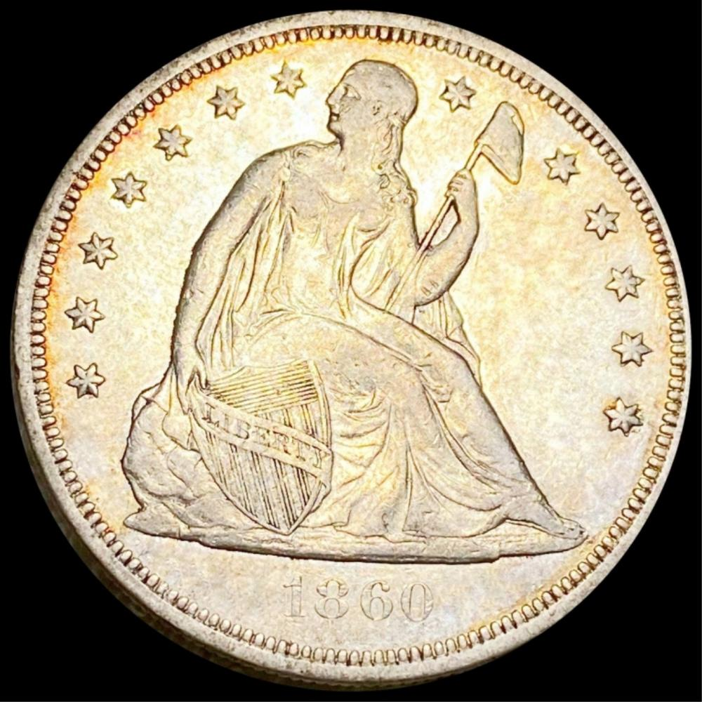 1860-O Seated Silver Dollar CLOSELY UNCIRCULATED