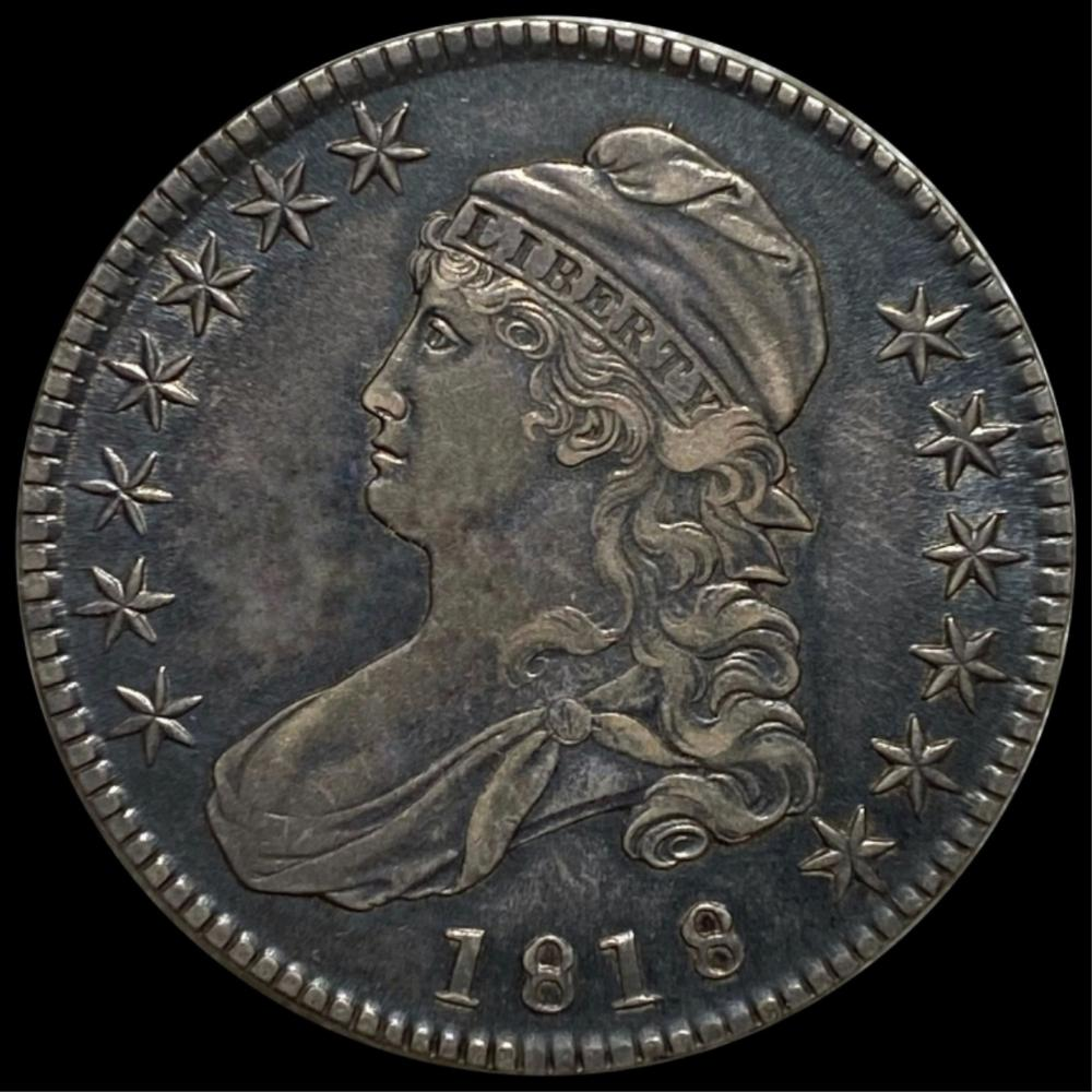 1818 Capped Bust Half Dollar ABOUT UNC
