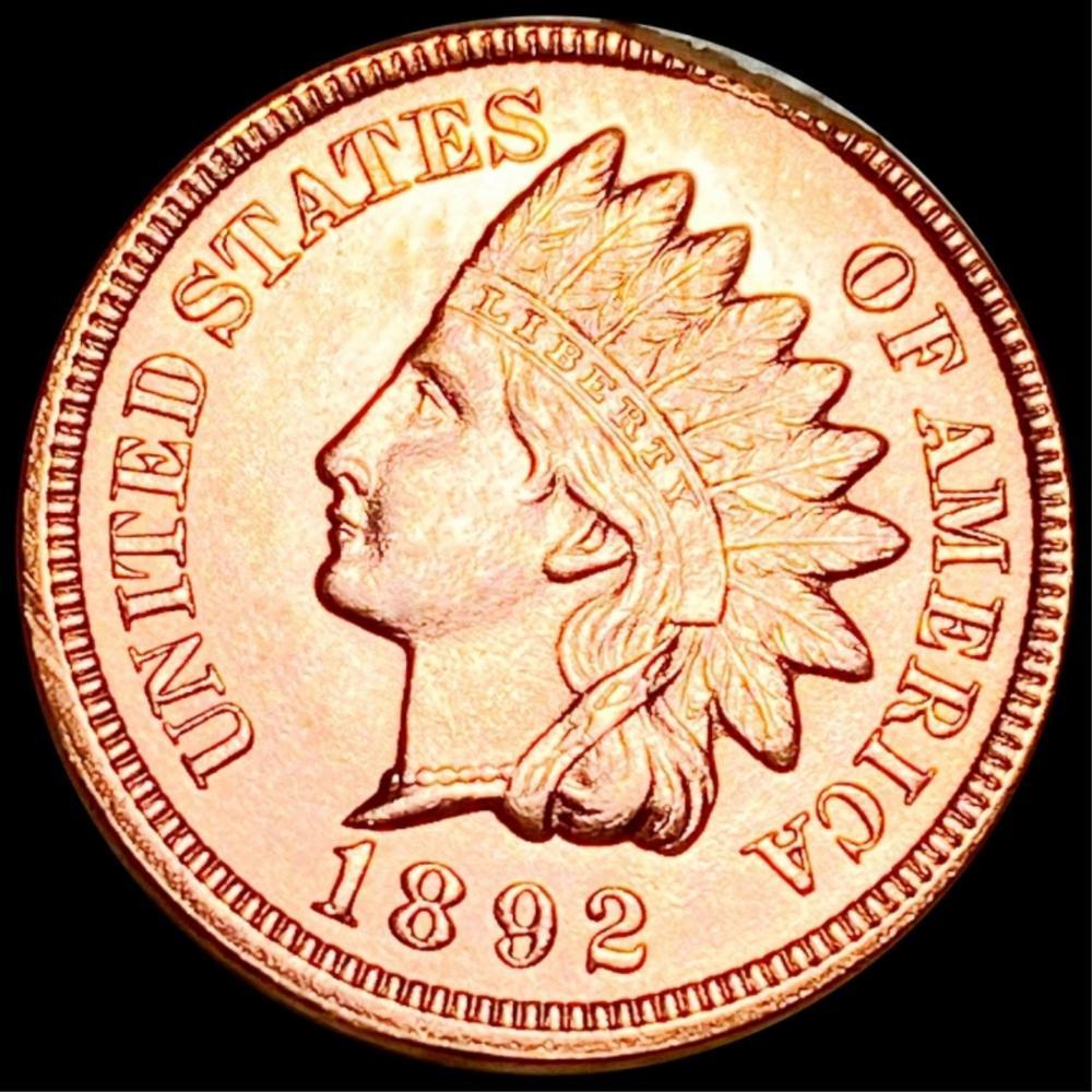 1892 Indian Head Penny GEM BU RED