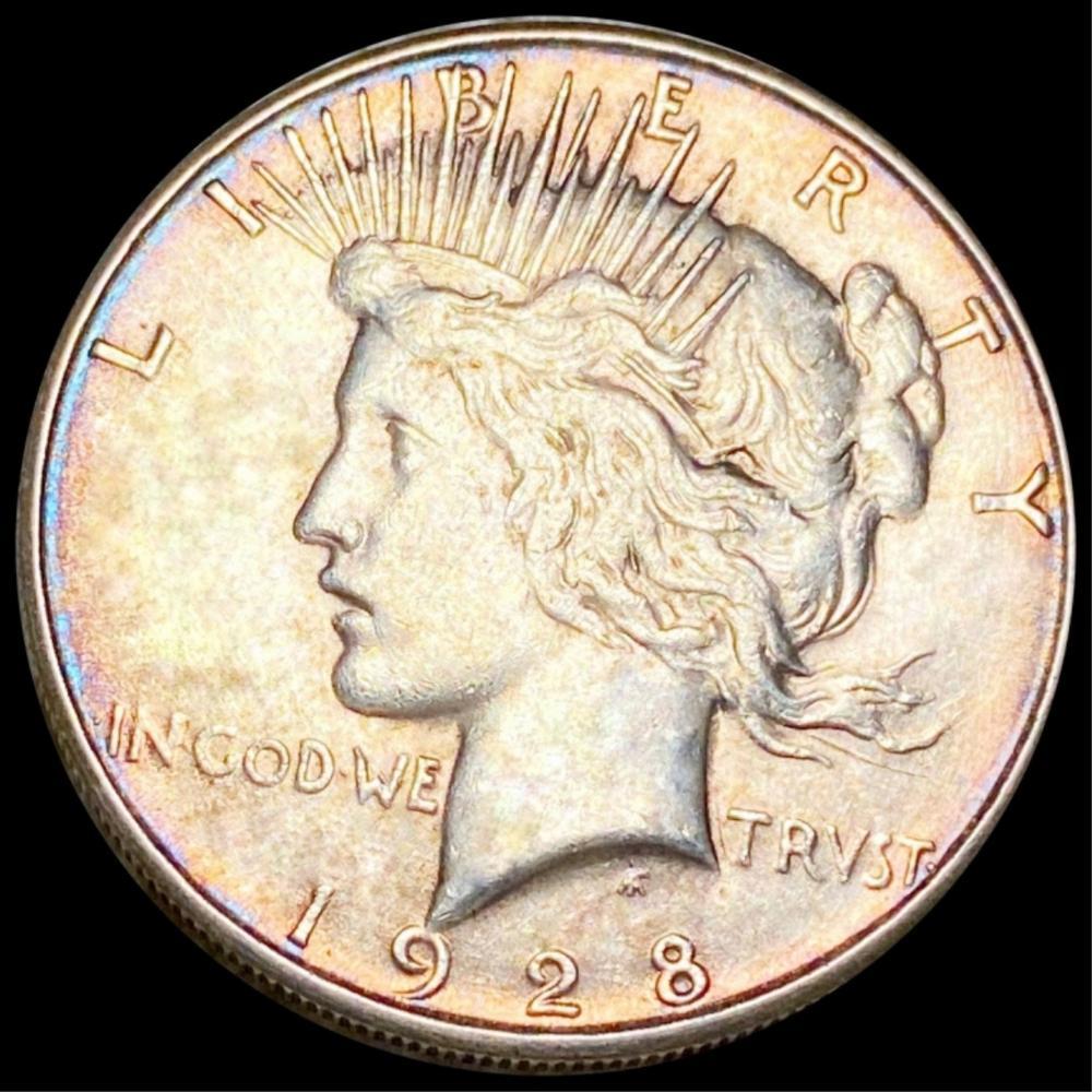 1928-S Silver Peace Dollar LIGHT CIRC