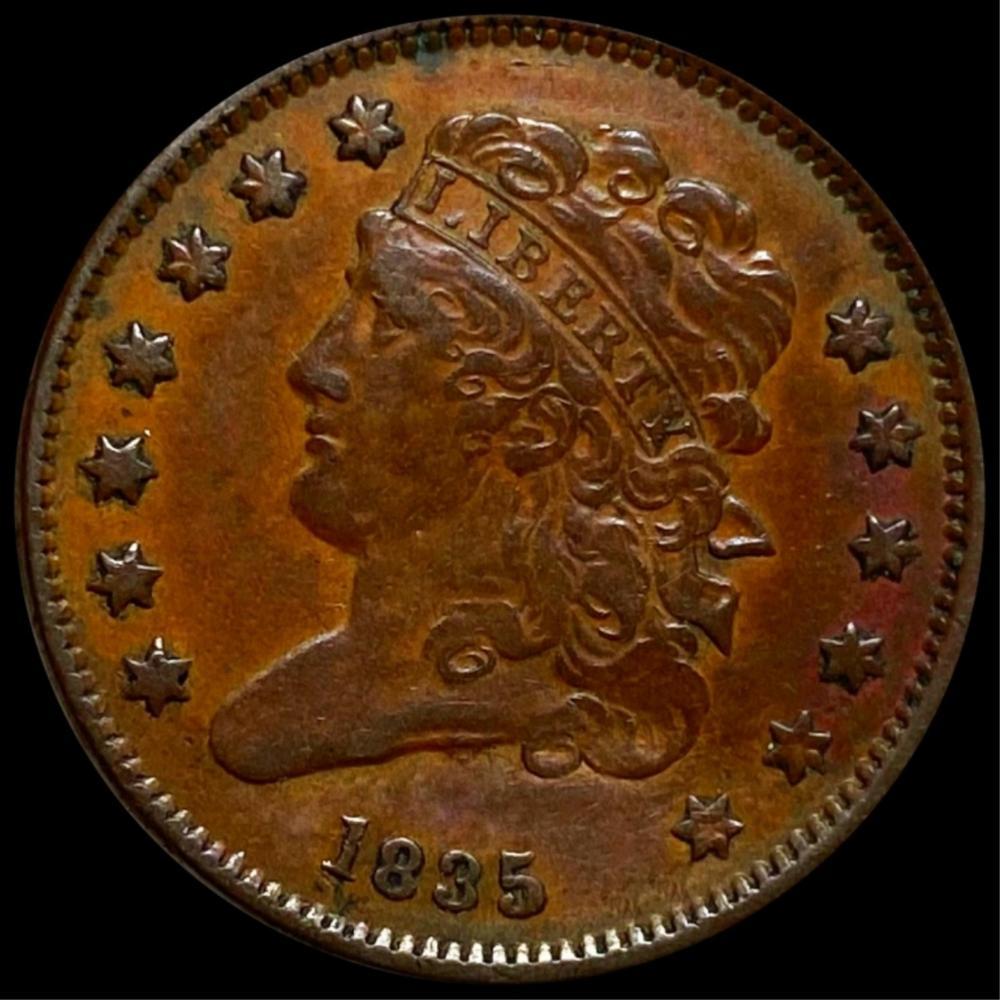 1835 Classic Head Half Cent NEARLY UNC