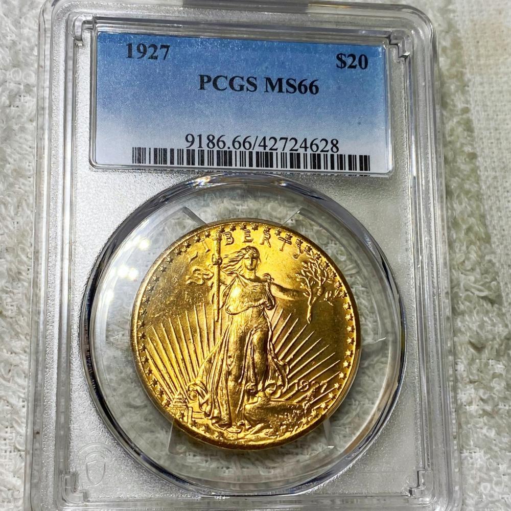 1927 $20 Gold Double Eagle PCGS - MS66