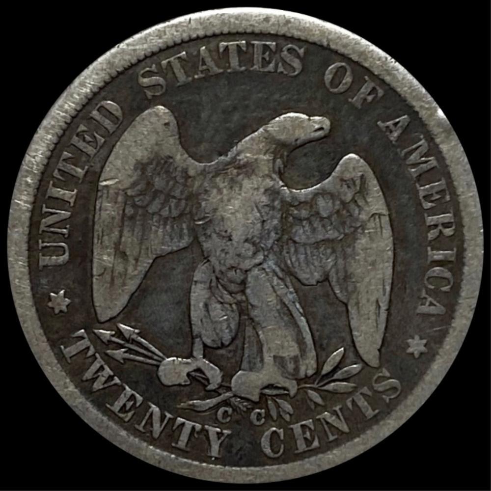 1875-CC Seated Twenty Cent Piece NICELY CIRCULATED