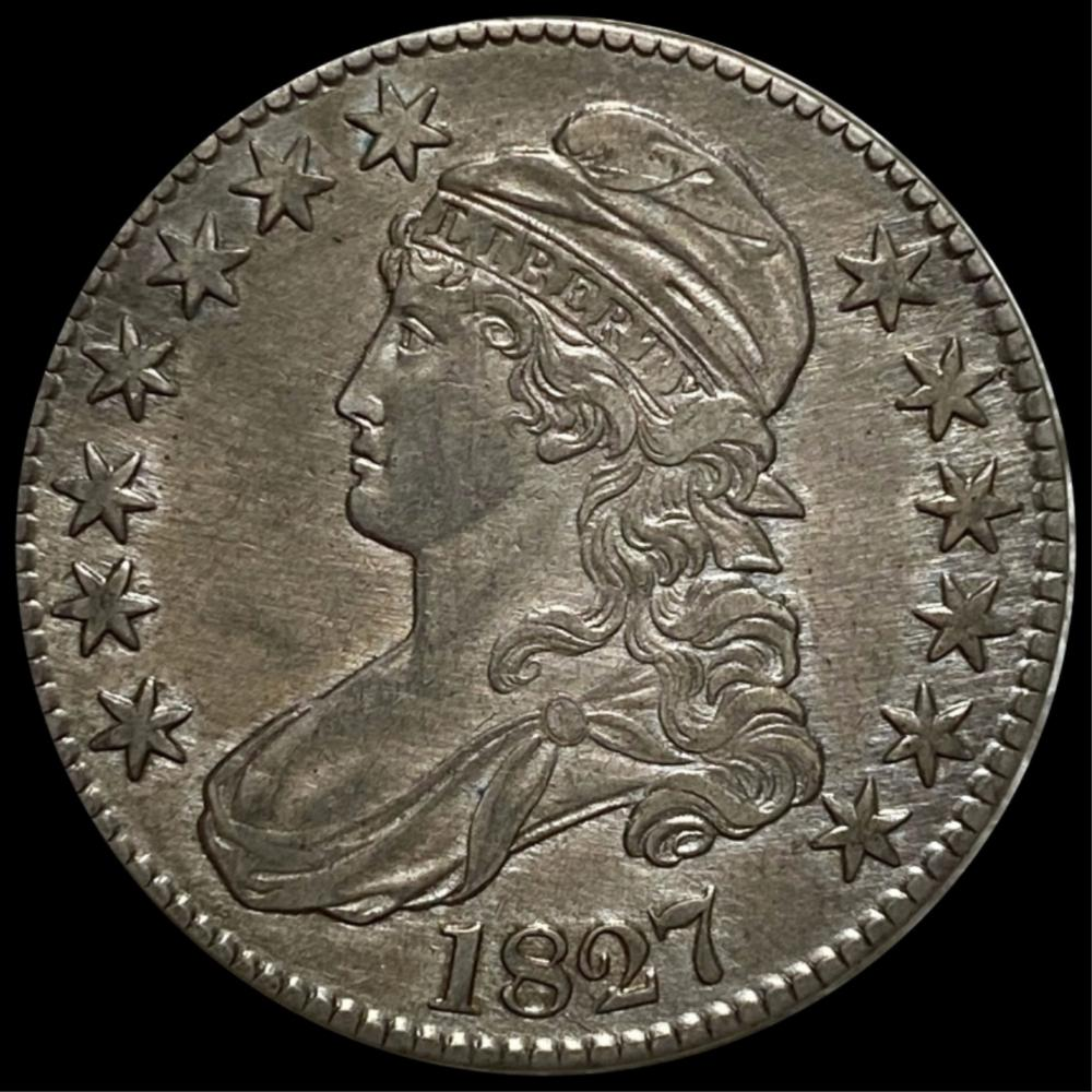 1827 Capped Bust Half Dollar NEARLY UNC