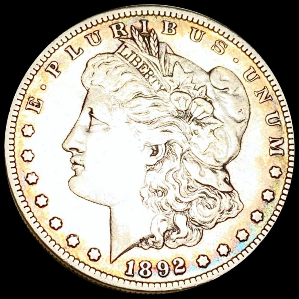 1892-S Morgan Silver Dollar ABOUT UNCIRCULATED
