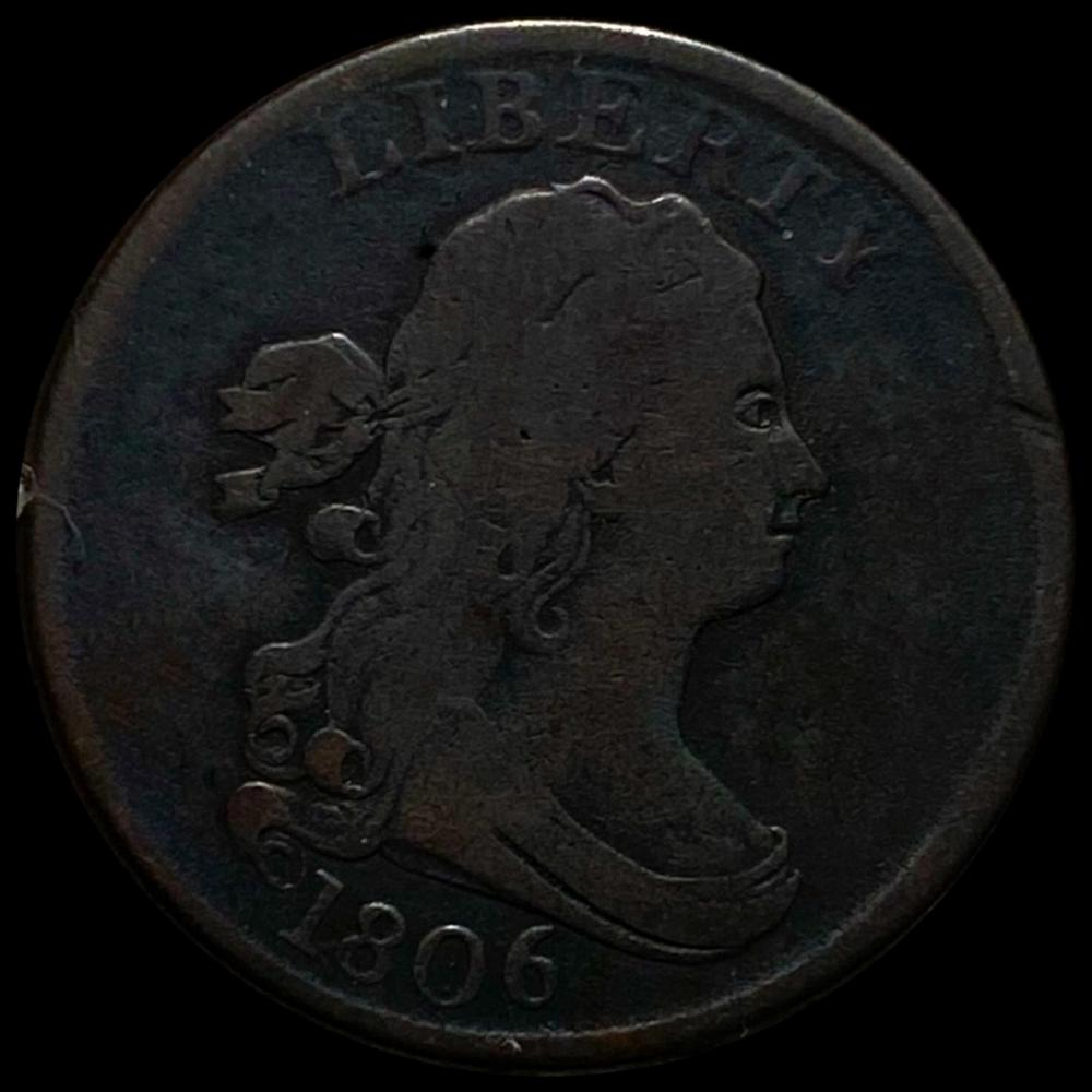 1806 Draped Bust Half Cent NICELY CIRC