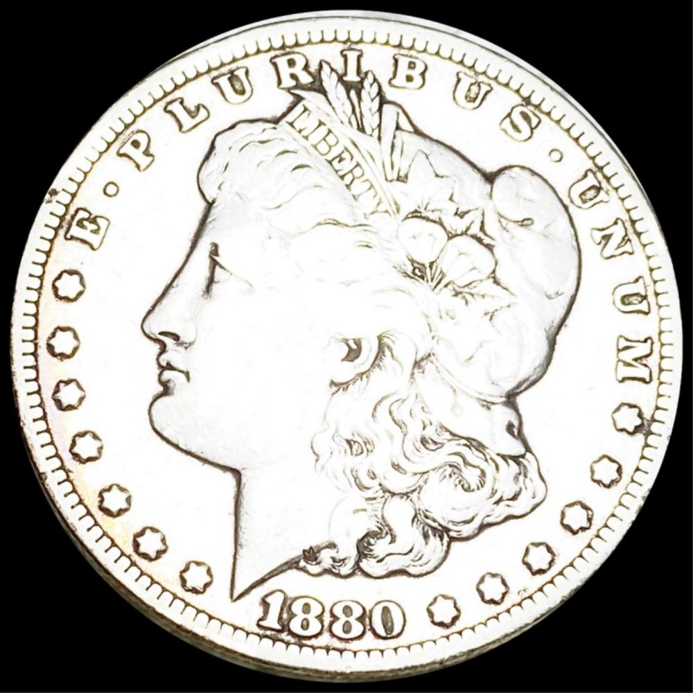 1880-CC Morgan Silver Dollar NICELY CIRC