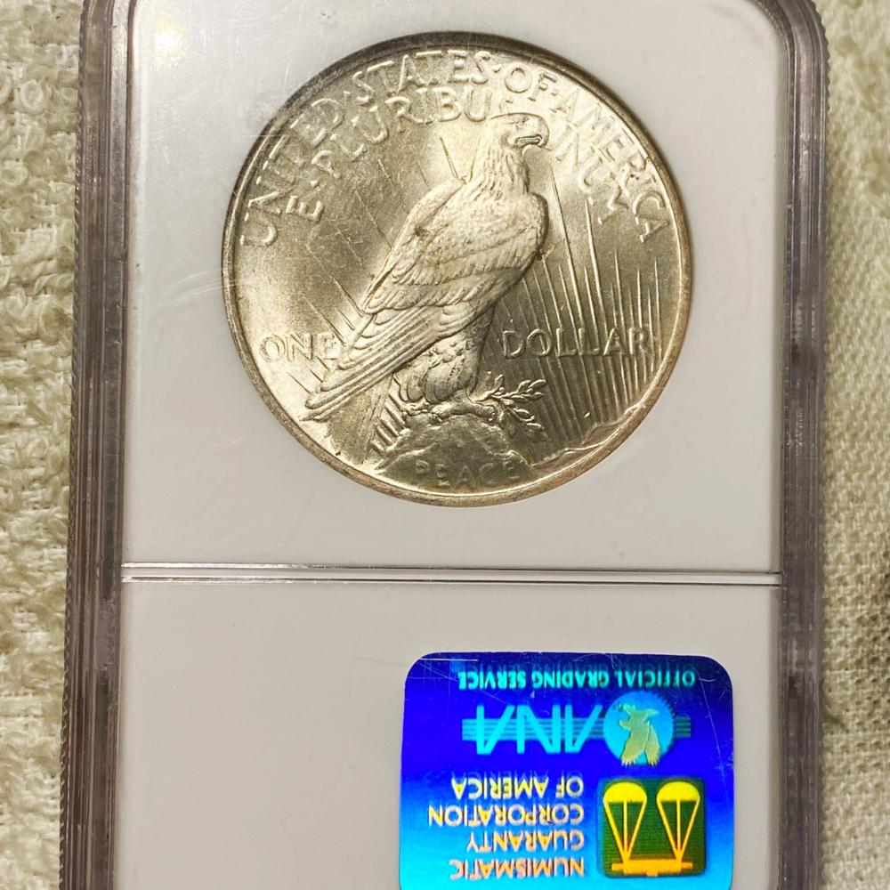 1924 Silver Peace Dollar NGC - MS63