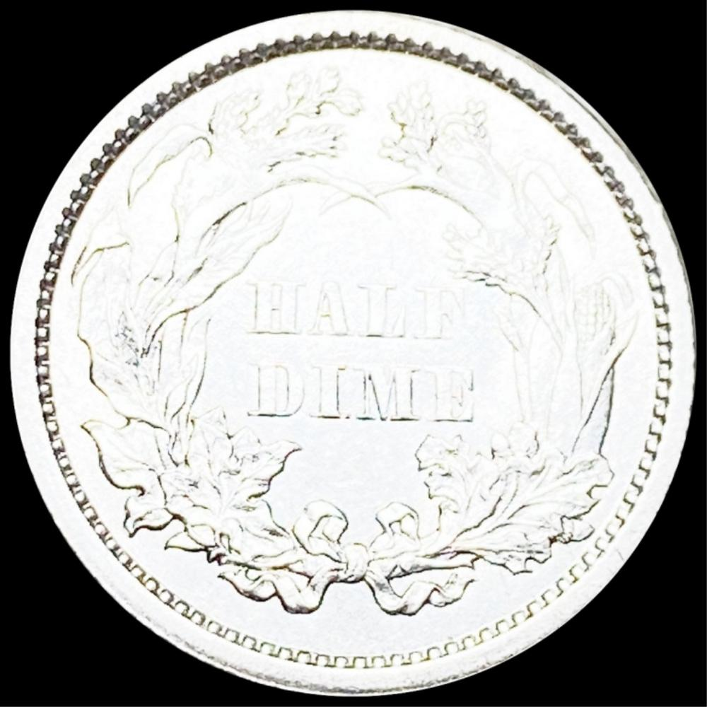 1860 Seated Liberty Half Dime UNCIRCULATED