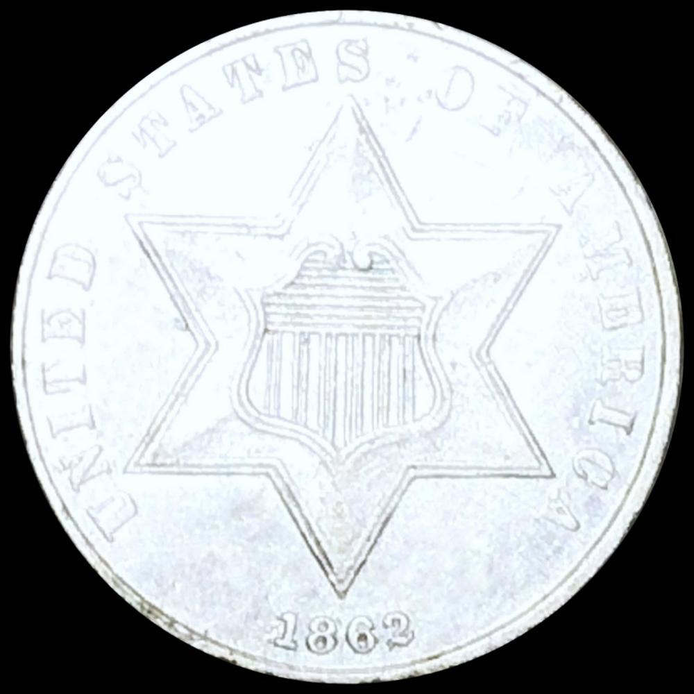 1862 Three Cent Silver UNCIRCULATED