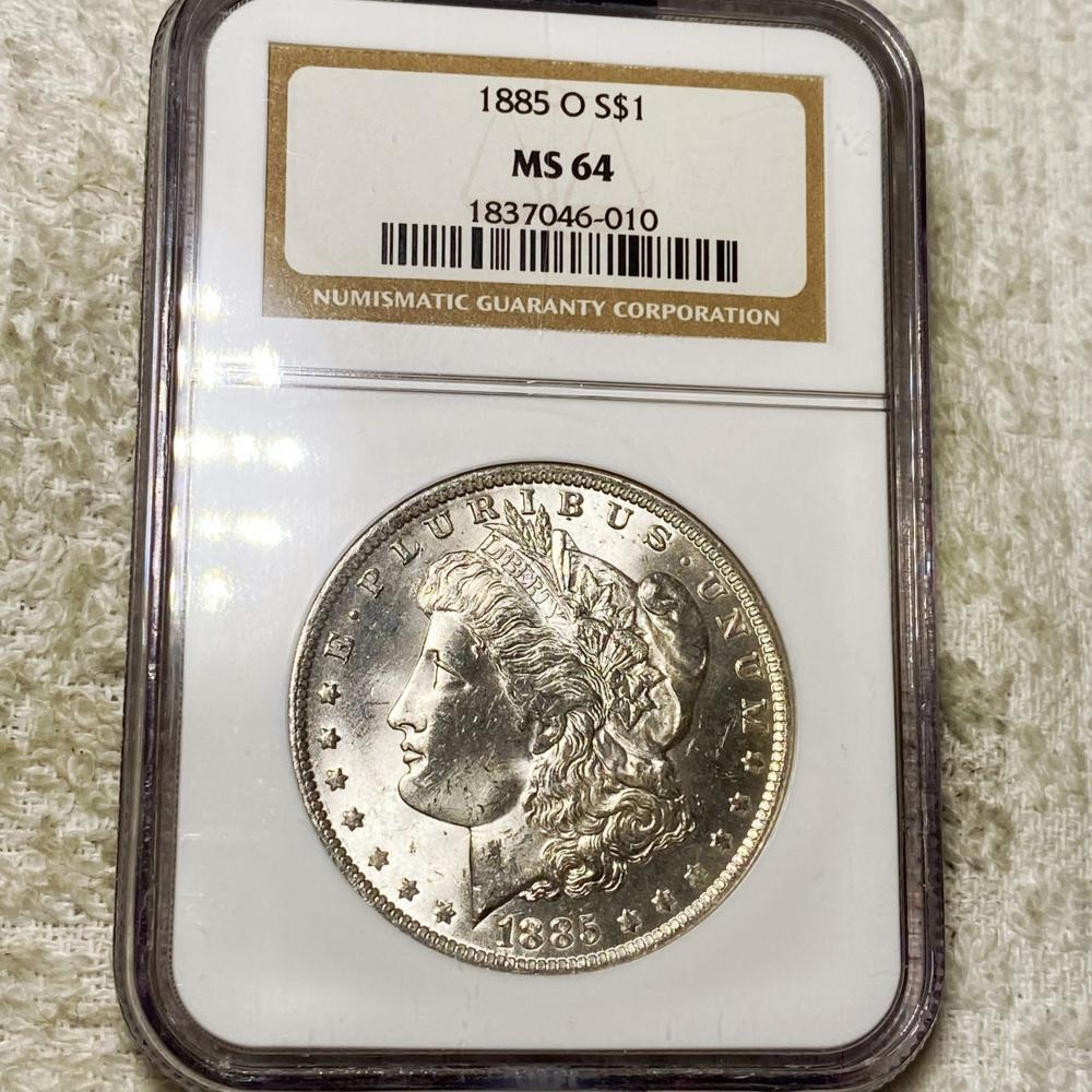 1885-O Morgan Silver Dollar NGC - MS64