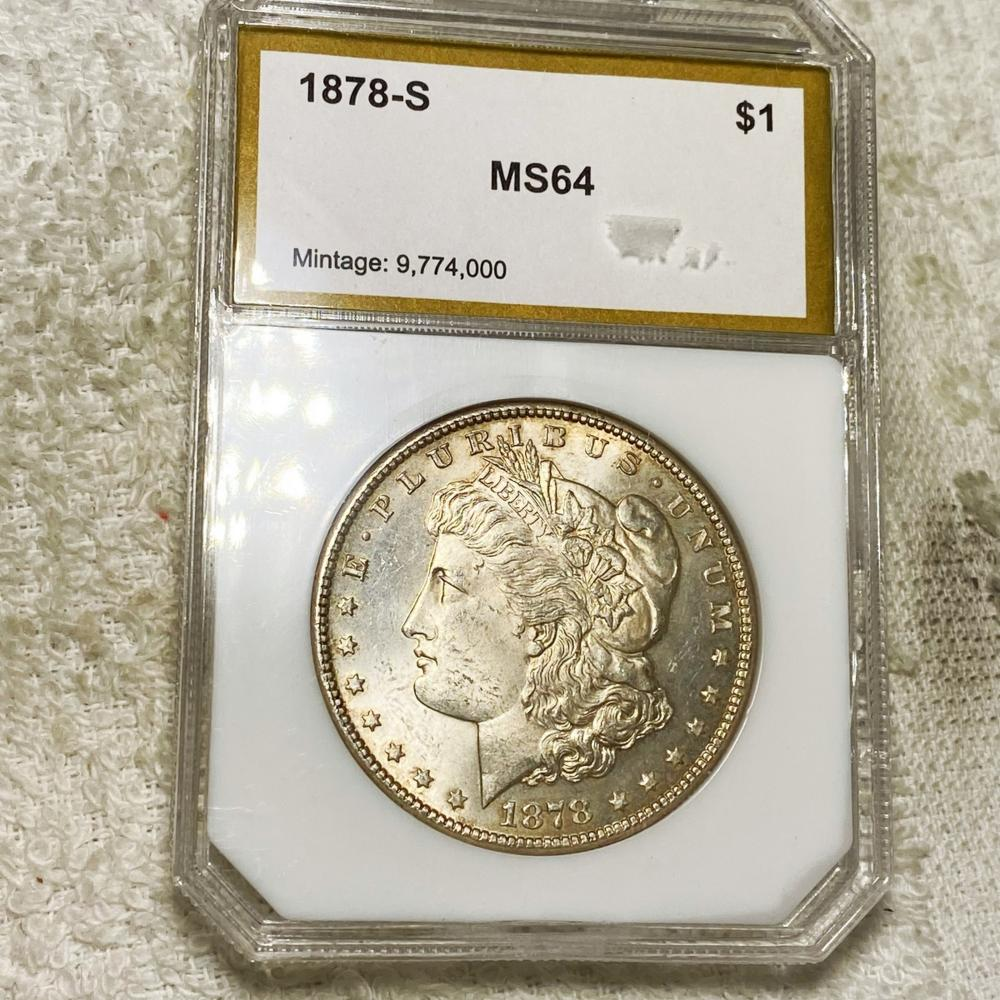 1878-S Morgan Silver Dollar PCI - MS64
