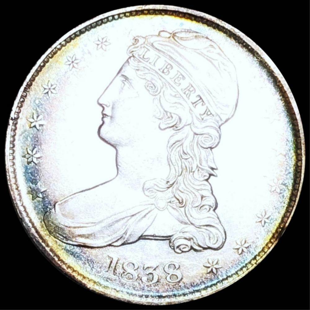 1838 Capped Bust Half Dollar UNCIRCULATED