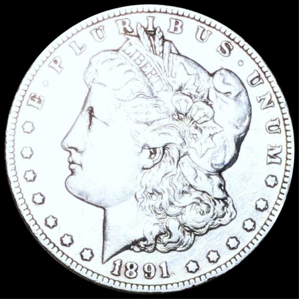 1891-CC Morgan Silver Dollar NEARLY UNC