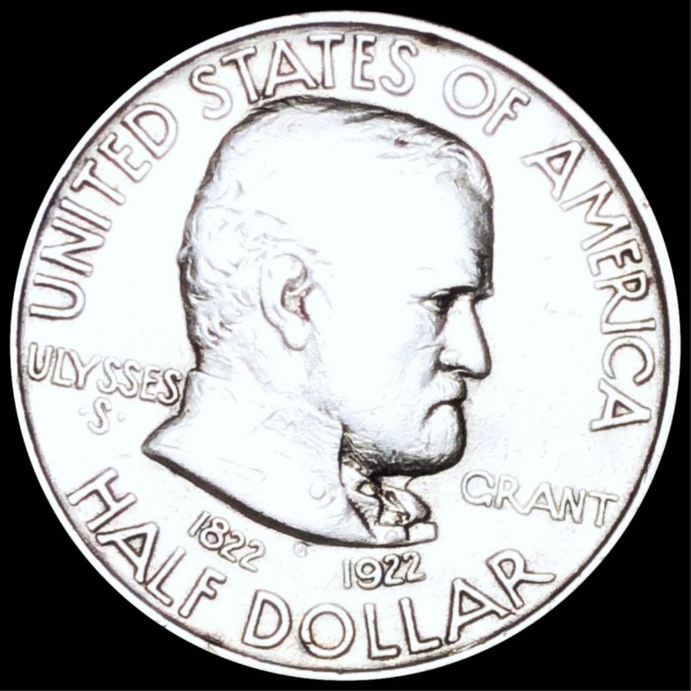 1922 Ulysses S. Grant Half Dollar ABOUT UNC