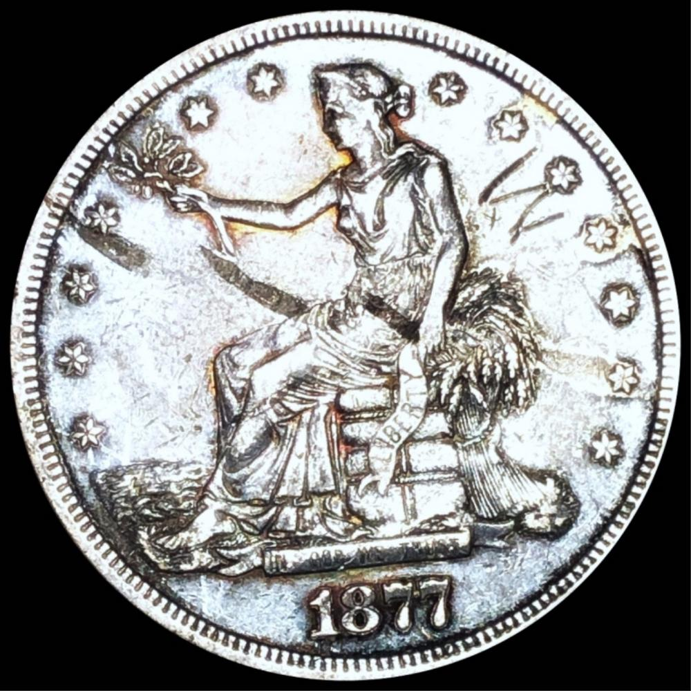 1877-S Silver Trade Dollar NEARLY UNCIRCULATED