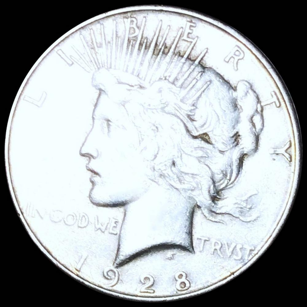 1928-S Silver Peace Dollar LIGHTLY CIRCULATED
