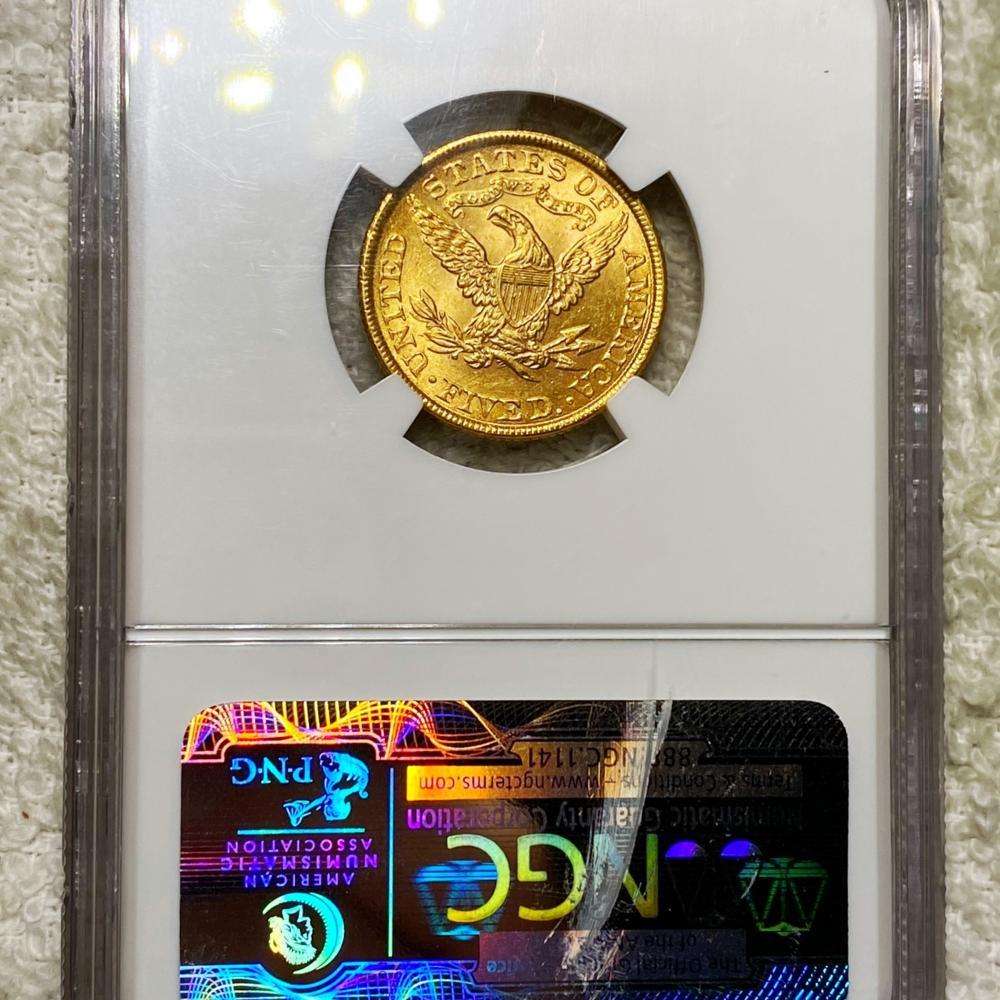 1899 $5 Gold Half Eagle NGC - MS62