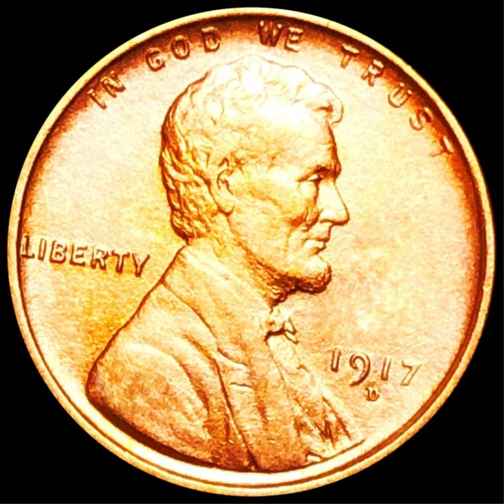 1917-D Lincoln Wheat Penny UNC RED