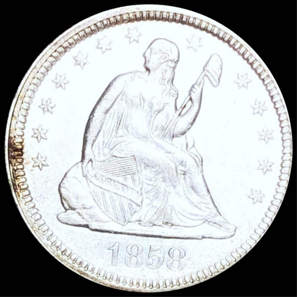 1858 Seated Liberty Quarter UNCIRCULATED