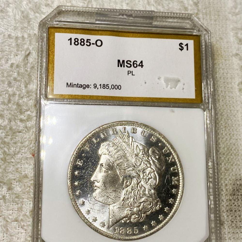 1885-O Morgan Silver Dollar PCI - MS 64 PL
