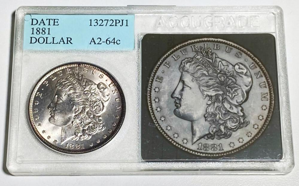 1881 Morgan Silver Dollar ACCUGRADE - MS64