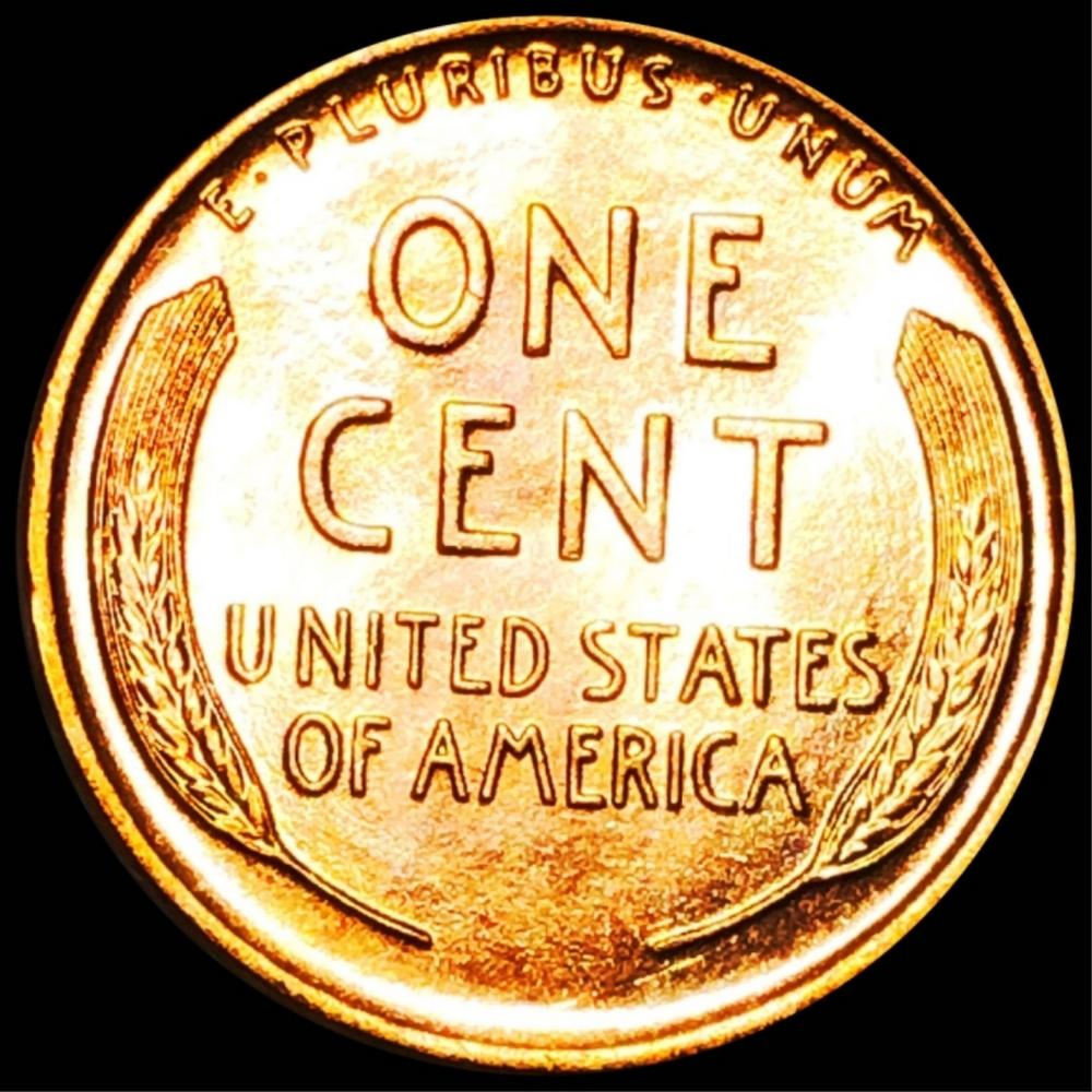 1928 Lincoln Wheat Penny GEM BU RED