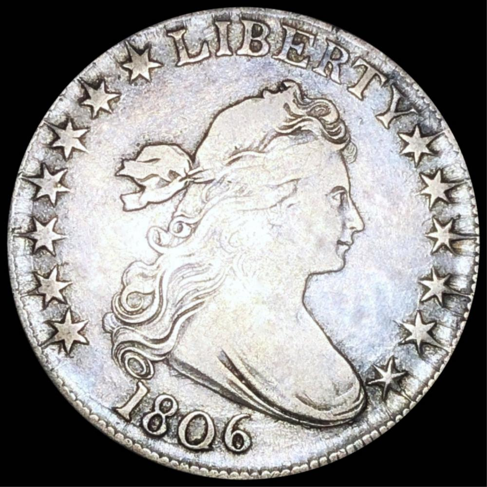 1806 Draped Bust Half Dollar LIGHTLY CIRCULATED