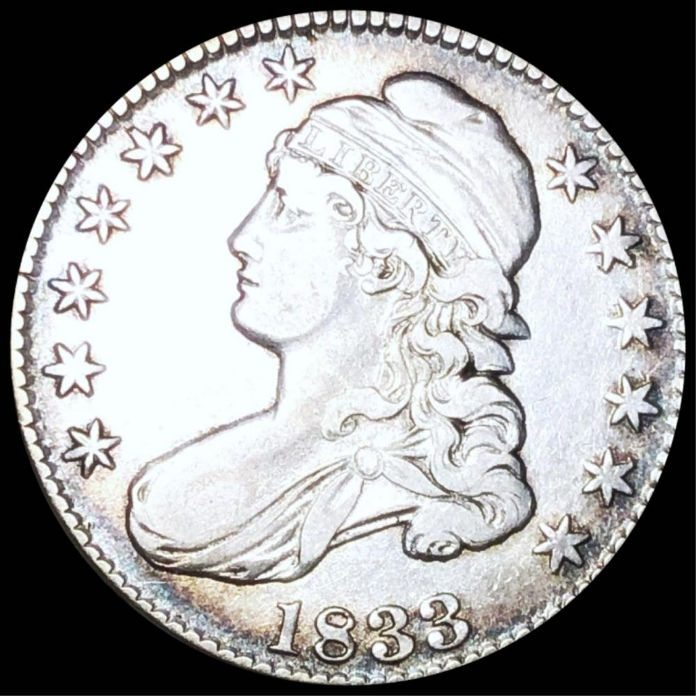 1833 Capped Bust Half Dollar ABOUT UNCIRCULATED