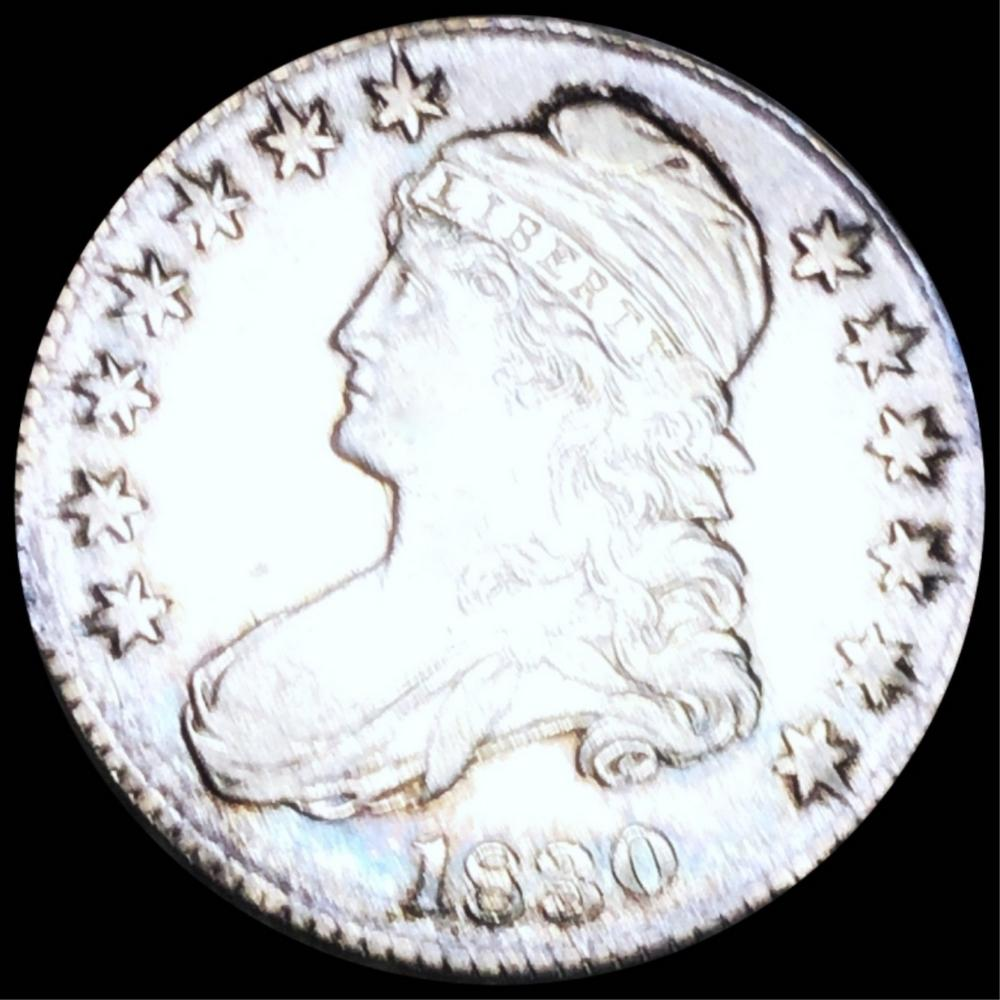 1830 Capped Bust Half Dollar CLOSELY UNC