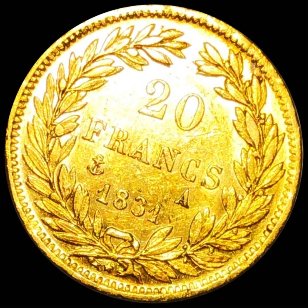 1831 French Gold 20 Francs UNCIRCULATED