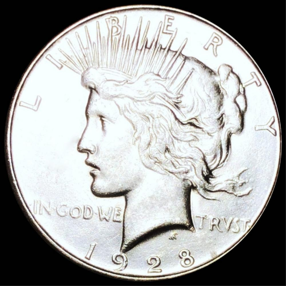 1928-S Silver Peace Dollar CLOSELY UNC