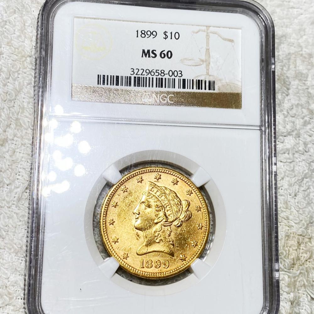 1899 $10 Gold Eagle NGC - MS60