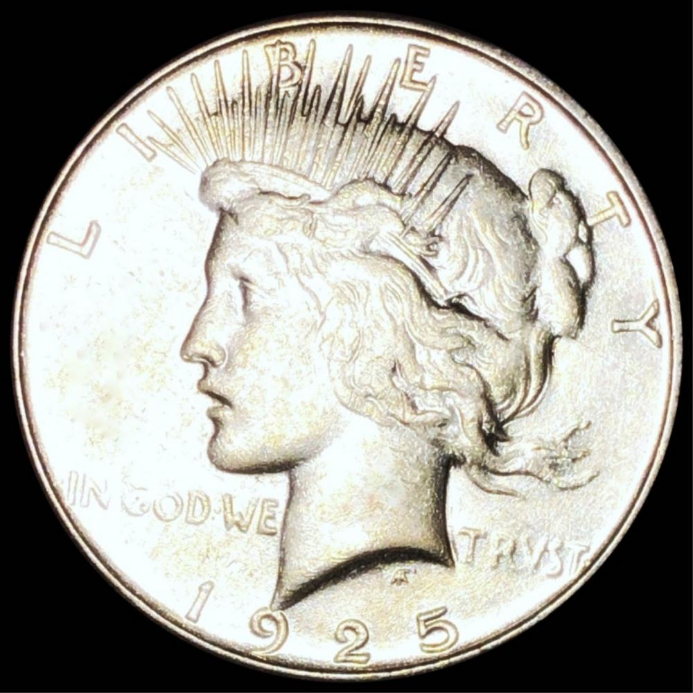 1925-S Silver Peace Dollar ABOUT UNC