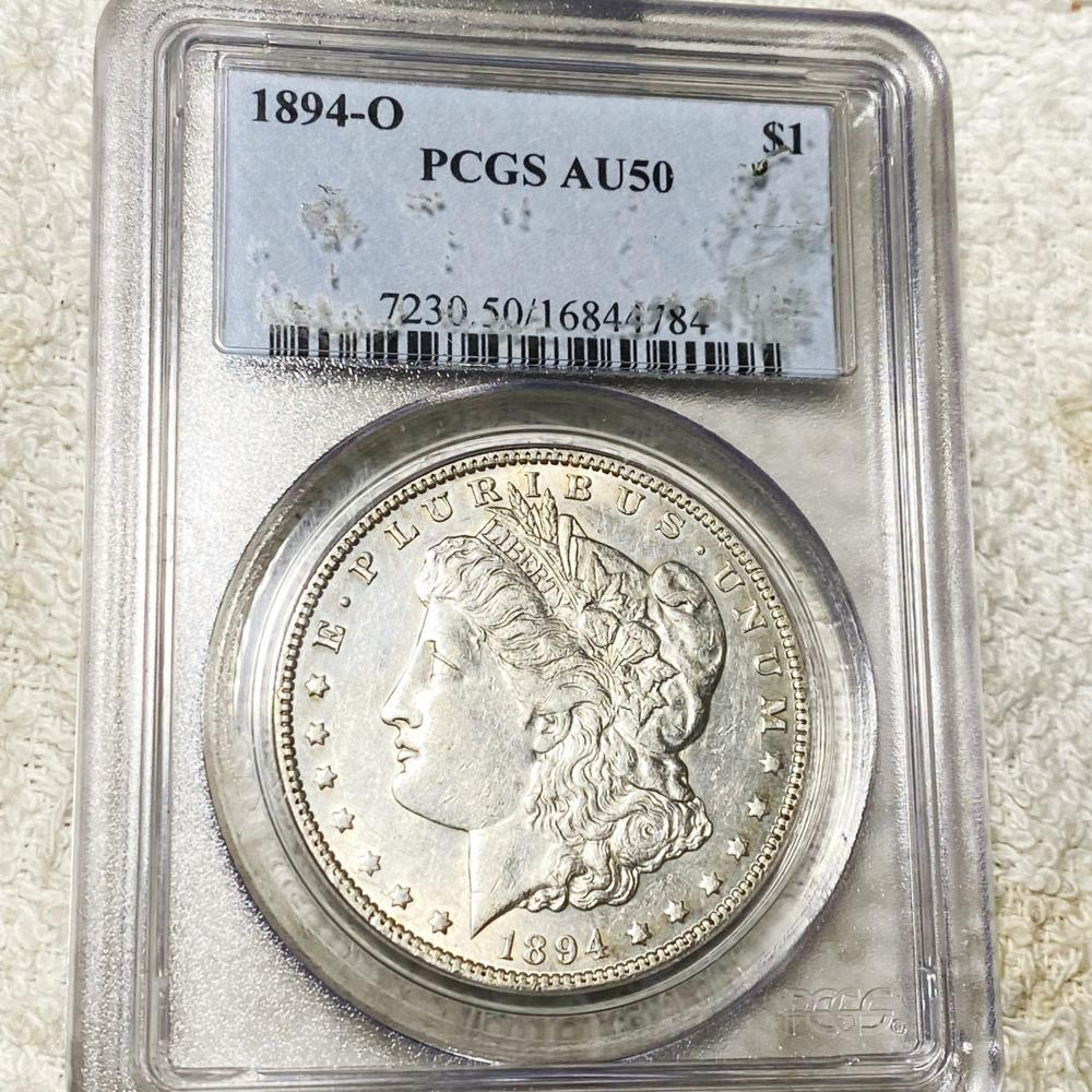 1894-O Morgan Silver Dollar PCGS - AU50