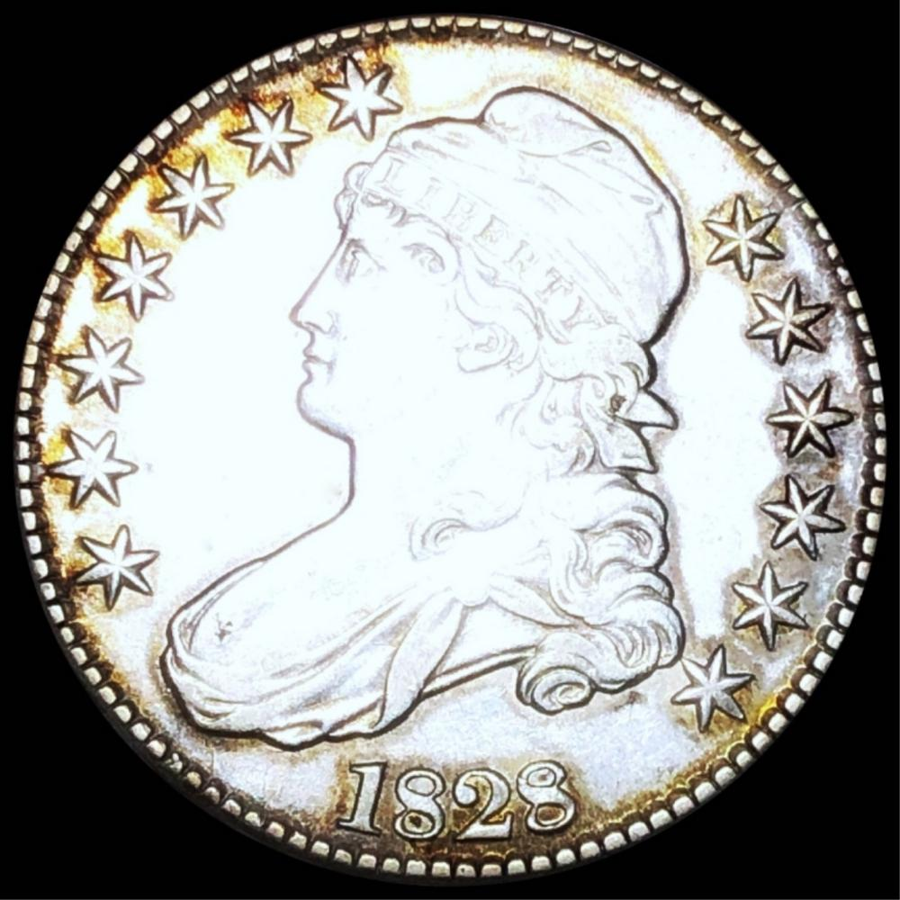 1828 Capped Bust Half Dollar NEARLY UNC