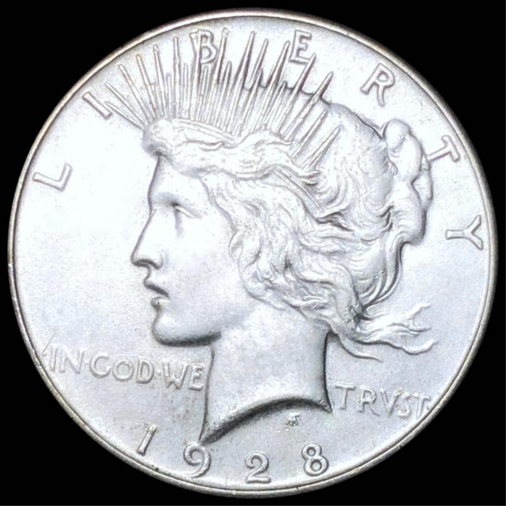 1928 Silver Peace Dollar CLOSELY UNCIRCULATED