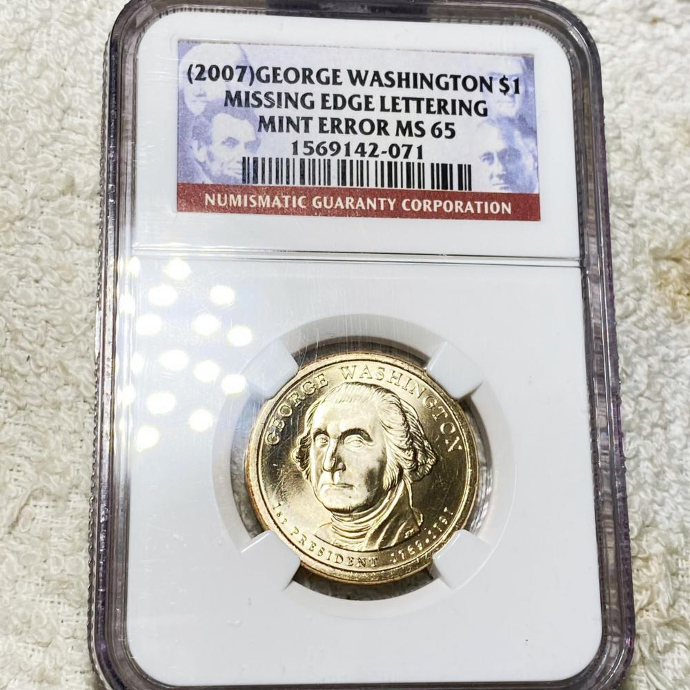 2007 George Washington Dollar NGC - MS65 ERROR
