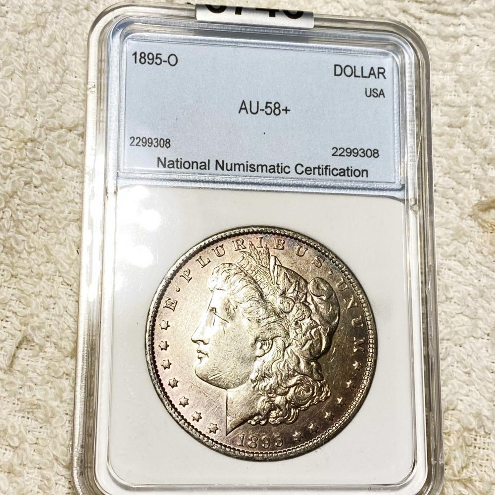 1895-O Morgan Silver Dollar NNC - AU58+