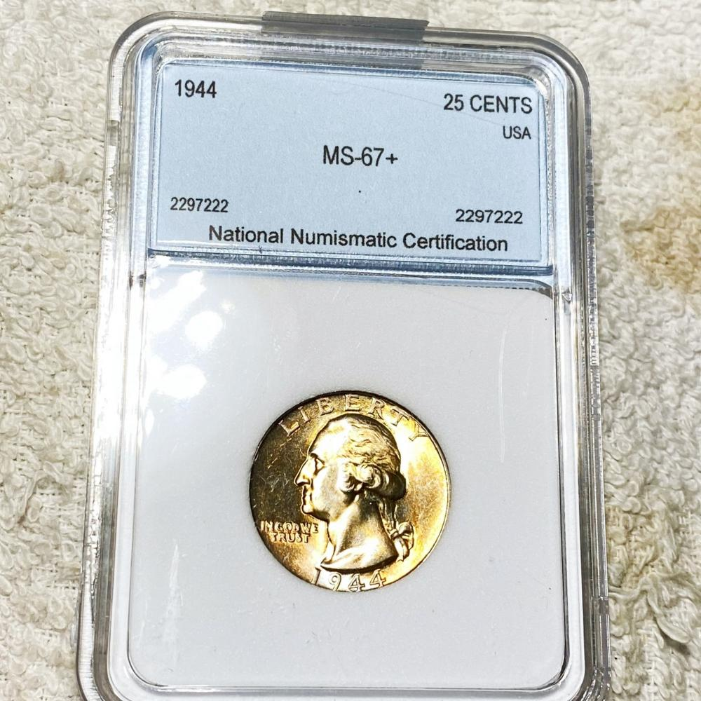 1944 Washington Silver Quarter NNC - MS67+