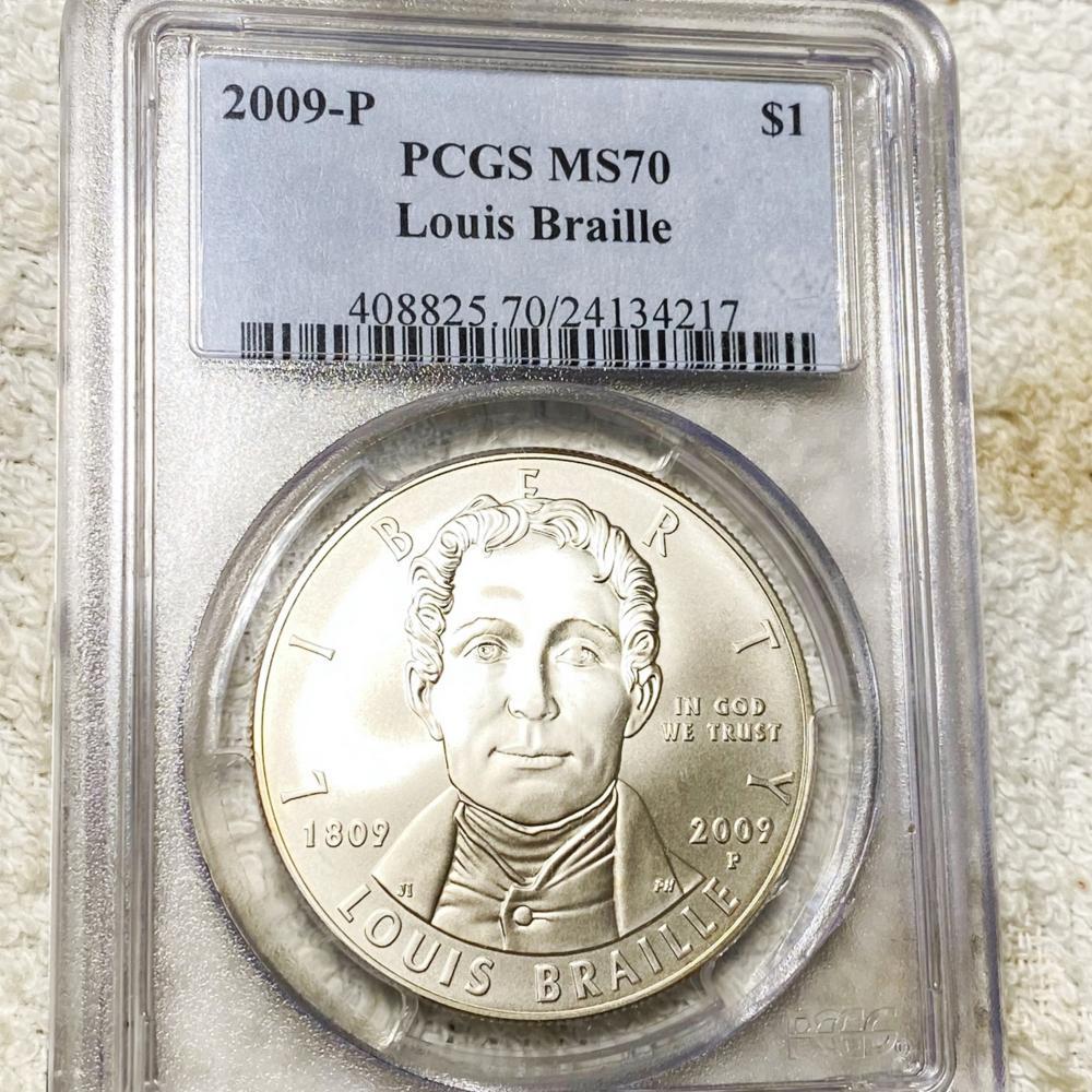 2009-P Louis Braille Dollar PCGS - MS70