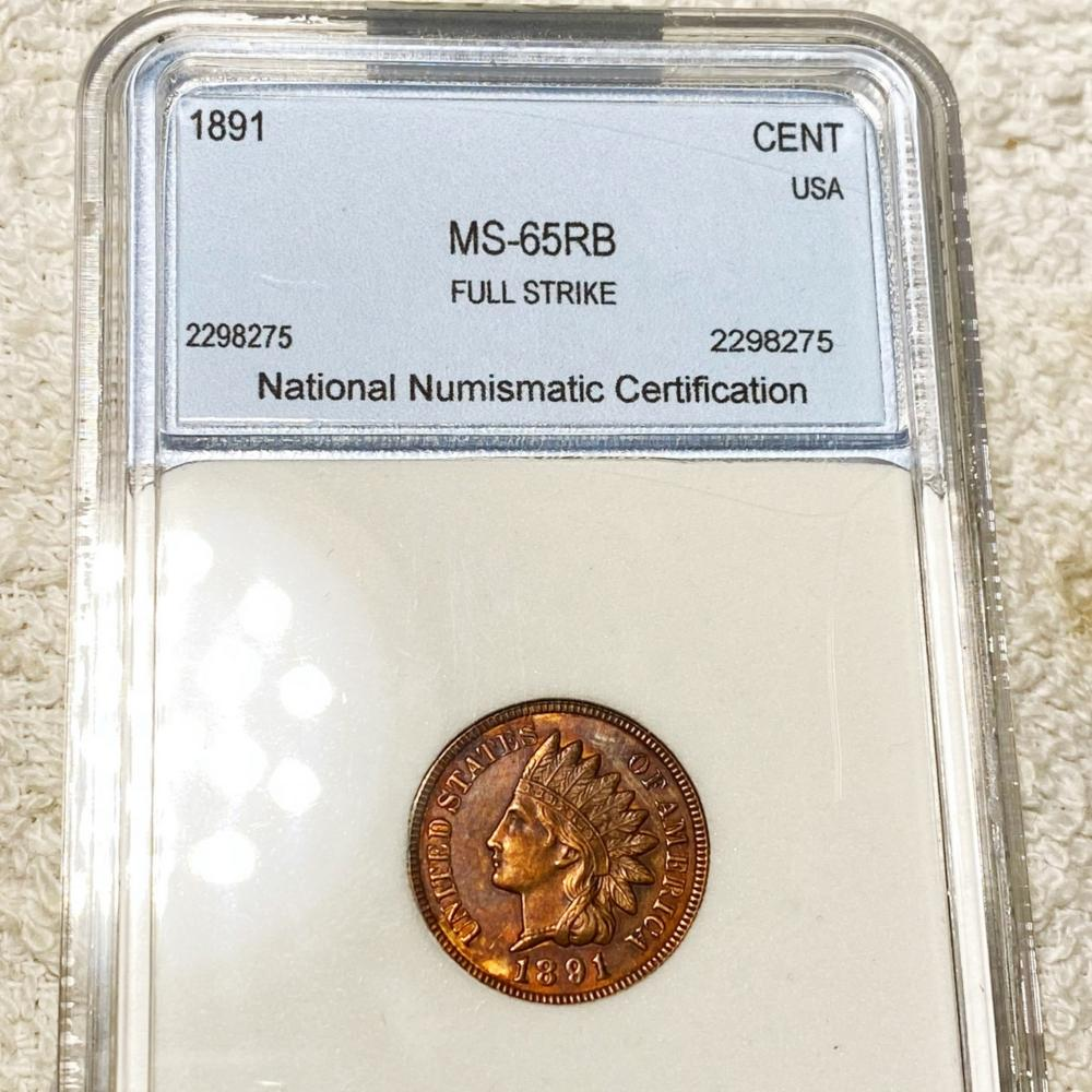 1891 Indian Head Penny NNC - MS 65 RB