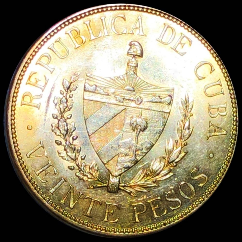 1915 Cuba Gold 20 Pesos UNCIRCULATED