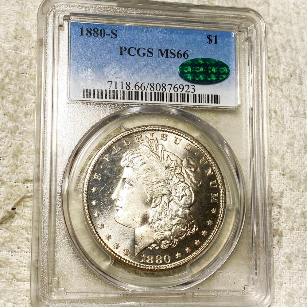 1880-S Morgan Silver Dollar PCGS - MS 66 CAC