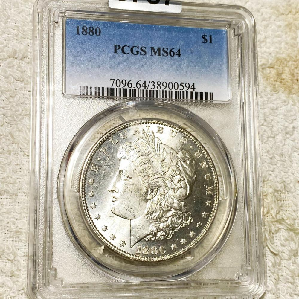 1880 Morgan Silver Dollar PCGS - MS64